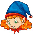 An elf wearing a blue hat vector image