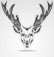 Artistic Deer Head vector image vector image