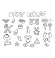 baby boom elements hand drawn set vector image
