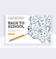 back to school banner hand drawn educational vector image