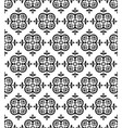 black decorative seamless pattern vector image vector image
