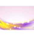 Bright colorful shiny waves design vector image vector image