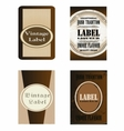 Brown Labels eps template vector image vector image