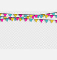 bunting hanging banner with shadow vector image