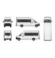 cargo van blank on white city vector image vector image