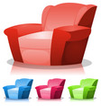 cartoon armchair set vector image