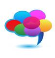 cloud of speech bubbles icon vector image vector image