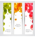 Colorful geometric abstract banners vector image vector image