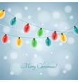 Colourful Glowing Christmas Lights vector image