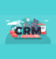 crm or relationship management vector image vector image