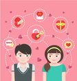 Dating Concept vector image vector image