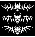 death skulls wings vector image vector image