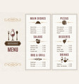 design template of restaurant menu with place for vector image