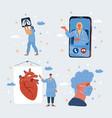 doctors character vector image vector image