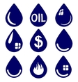 drop - icon set symbol vector image