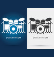 drum set music vector image vector image