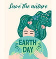earth day design for card poster banner vector image vector image