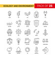 ecology and enviroment black line icon - 25 vector image