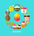 egg hunt postcard vector image