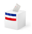 election in yugoslavia ballot box with voicing vector image vector image