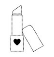 fashion lipstick isolated icon vector image