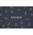Fashion Thin Line Icons vector image