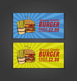 fastfood banner design with hand drawn illu vector image