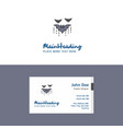 flat bat logo and visiting card template busienss vector image vector image