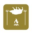 Grilled boar icon vector image vector image