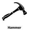 hammer icon simple black style vector image