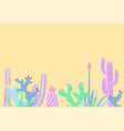 hand draw cactus and succulents set vector image vector image