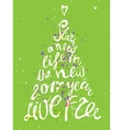 Hand-draw Christmas tree greeting card with vector image vector image