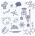 hand draw phisics elements vector image vector image