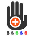 hand medical marker flat icon vector image