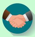 handshake icon contract icon agreement icon vector image vector image