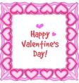 happy valentines border vector image vector image