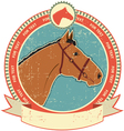 Horse head label vector | Price: 1 Credit (USD $1)