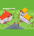house for sale isometric vector image vector image