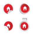 house red sticker vector image vector image