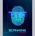 inger-print scanning identification system vector image