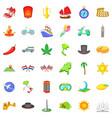 jorney icons set cartoon style vector image