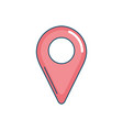 location symbol to seach in the map icon vector image vector image