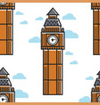 london big ben tower seamless pattern building vector image