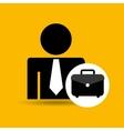 man silhouette business and portfolio folder vector image