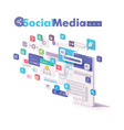 mobile social media apps vector image