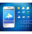 Mobile weather application vector image