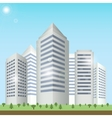 Modern buildings cityscape vector image vector image