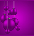 Modern purple christmas balls background vector image
