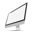modern widescreen Lcd Monitor vector image vector image
