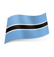 national flag of botswana white outlined vector image vector image
